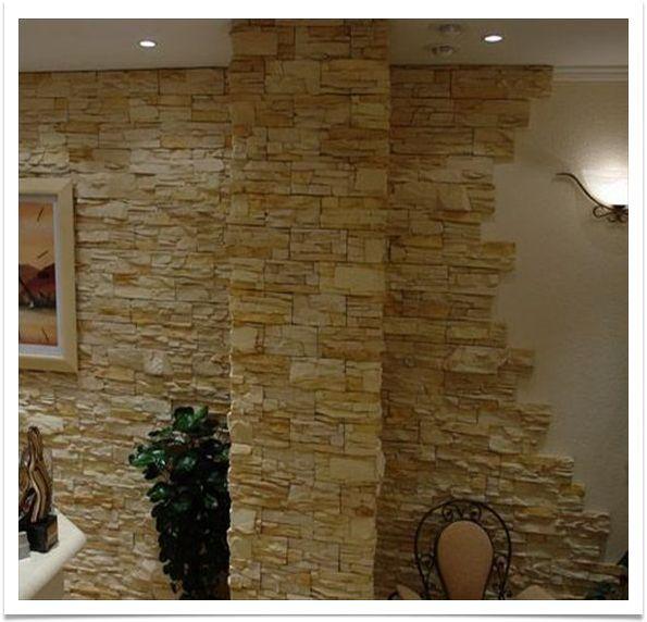 Pedra decorativa para decorar restaurantes bares - Placas decorativas para pared interior ...